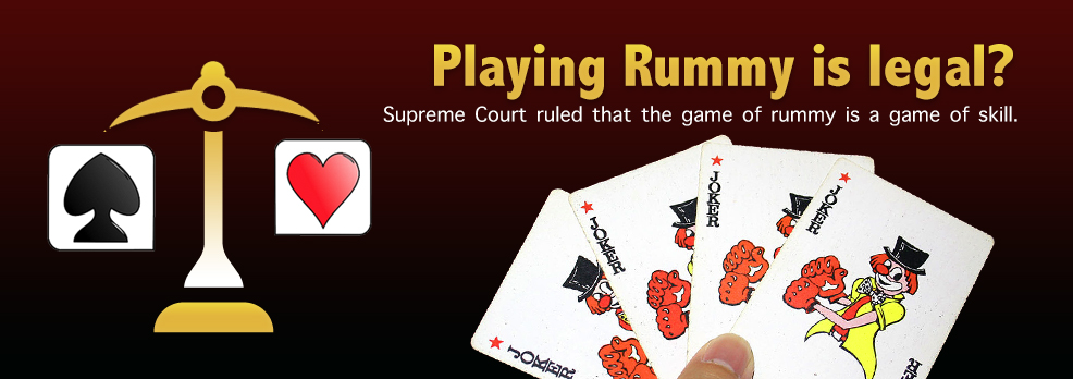 is rummy game is legal in india